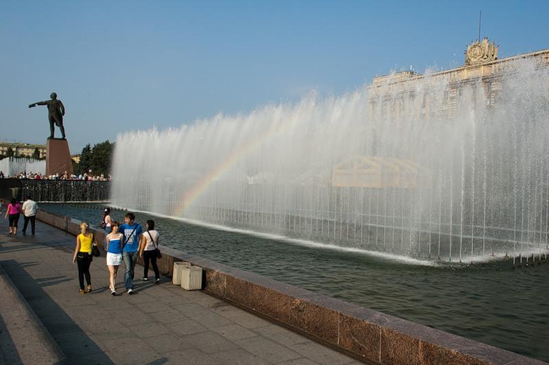 фотография фонтанов Московский проспект