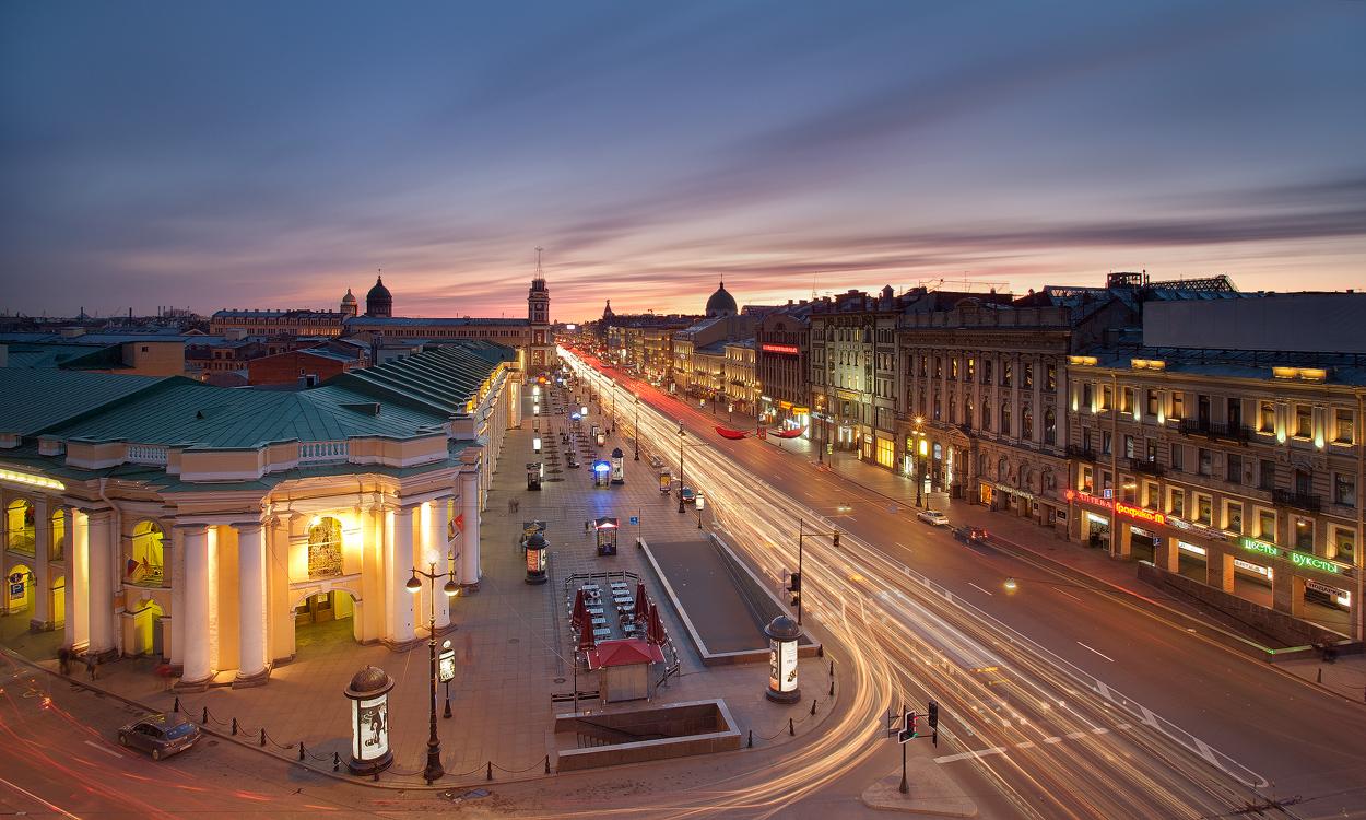 невский проспект вечер