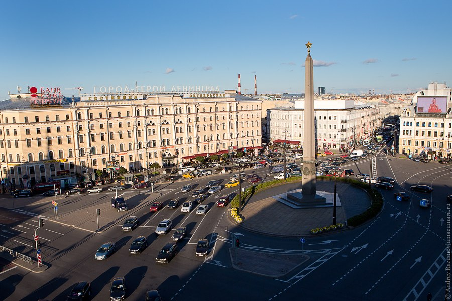 Фотография площади Восстания сверху
